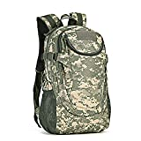 TnXan Backpack Rucksack Bag Backpacks 25L Sport Backpack 14 inches Laptop Military Outdoor Fishing Hunting Camping Rucksack Hiking Bags Mochila XA38D
