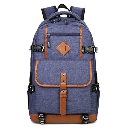 UGOOO Laptop-Rucksäcke Damen Herren für 15,6 zoll Notebook Tasche Leichtgewichtiger Business Rucksack Cityrucksack für Büro Schule Reise (Blau) (Nike-computer-rucksack)