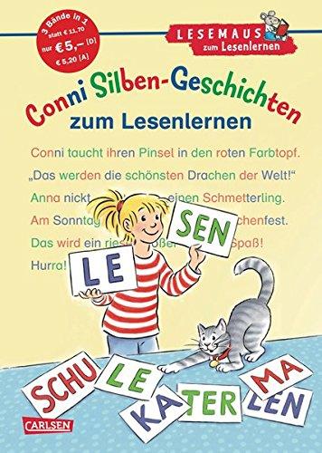 LESEMAUS zum Lesenlernen Sammelbände: Conni Silben-Geschichten zum Lesenlernen: Extra Lesetraining – Lesetexte mit farbiger Silbenmarkierung