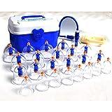 Honey21 Coppettazione Cinese Cupping Terapia, 24Coppette Sottovuoto con Pompa, Massaggio Trattamenti Medicina Tradizionale per Anticellulite, Viso, Cervicale, Mal di Schiena