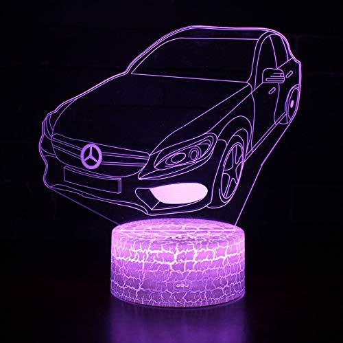 Nachttischlampe Plug Farbe Led Leuchten Car Usb In Nachtlicht Styling Dekoration 165x170x4mmTouchFernbedienung Geschenk Benz Mercedes Bunte IYE9HWD2