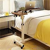 Computertisch Abnehmbarer Tisch Einfach und modern Rundschleifen Bettmobiltisch Heben lähmender Computertisch Home Esstisch Mit Rollentisch einstellbar Frei steigend und fallend (Farbe : C)