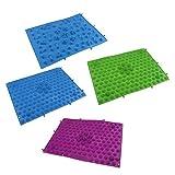 Sharplace (4 Stück Packung) Fußreflexzonenmatte Fußmassagematte Badezimmer Spielzimmer Dekoration Fußmatte (29x39cm)