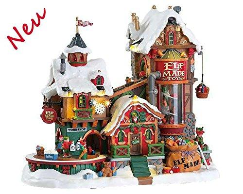 Lemax 75190 - Elf Made Toy Factory - NEU 2018 - Spielzeugfabrik der Elfen - Santa´s Wonderland - Animiert & Beleuchtet & mit Sound - Weihnachtswelt/Weihnachtsdorf