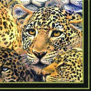Ihr Leopard Cheetah Wildlife Mystery Tradizionale Inglese Tovaglioli