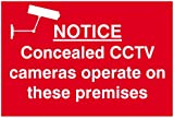 Scan 1607 300 x 200mm PVC Notice Concealed CCTV Cameras Operate On These Premises Sign
