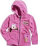 Playshoes Unisex - Baby Jacke Kuschlige Fleece-Jacke mit Kapuze von Playshoes, mit Motivapplikationen und Reflektorstreifen, Art. 420013, Gr. 80, Rosa (18 pink)