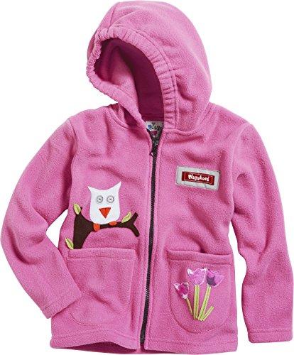 Playshoes Unisex - Baby Jacke Kuschlige Fleece-Jacke mit Kapuze von Playshoes, mit Motivapplikationen und Reflektorstreifen, Art. 420013, Gr. 80, Rosa (18 pink) (Mädchen Fleece Jacke Mit Kapuze)