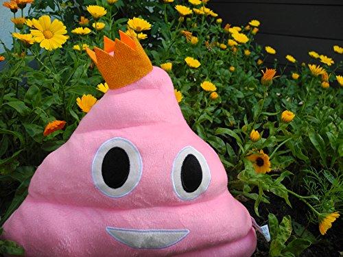 Haufi – Emoji Smiley Poop Kissen – Kopfkissen in Kackhaufen-Form mit Gratis Sammelkarte (Haufi princess) - 5