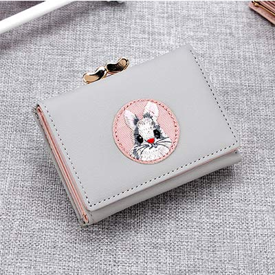 Main Material:PU,Lining Material:Polyester Item Length:10.6,Item Height:8 Item Type:Wallet Gender:Women Style:Fashion Pattern Type:Animal Prints Closure Type:Hasp Wallets:Mini Wallets Wallet Length:Short Decoration:Cartoon Printing Item Weight:50g It...