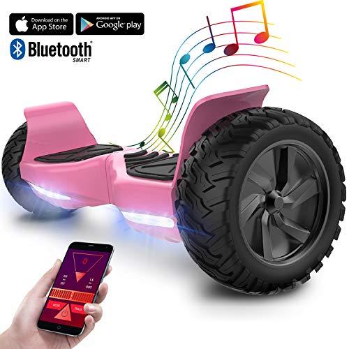 GeekMe Hoverboard elettrico fuoristrada Scooter auto bilanciamento con potente motore LED luci bluetooth APP per adulti e bambini. 8,5 pollici