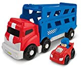 Fisher Price, Little People Wheelies BGC65 - Fahrzeug, Auto Spielset - Rennwagen Transporter inkl. Rennwagen