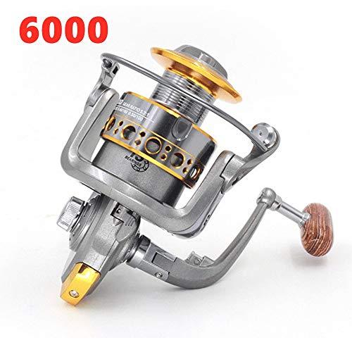 Lure Fishing Line Reel Fly Fishing Line Round Sea Fishing Fresh Water Line Capacity 109 Yards Gear Ratio 5.2:1 Net Weight 0.83 Pounds,6000 -