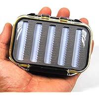 GFEU Caja de Moscas de Espuma Impermeable portátil para Pesca con Mosca, Doble Capa