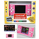 """QINGSHE Arcade Classic Handheld Games Consoles for Kids,Portable 2.5"""" LCD 8-Bit 152 in 1 Retro Mini Arcade Game System,Tiny Electronics Novelty Games for Girls Entertainment at Home or Travel -Pink"""