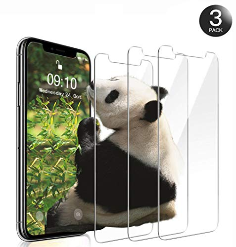 iPhone XS/iPhone X/iPhone 10 Schutzfolie (3 Stück) - 9H Panzerglas Folie, HD Displayschutzfolie/Panzerfolie, Tempered Glas Schutzglas, Handy Hartglas Schutzfolie, Screen Protector Glass