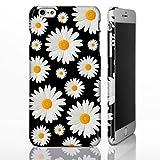 Daisy floral Cute Muster Fall für die iPhone Serie. Full Wrap Design Bezüge, plastik, Design 6: Daisies on Black, iPhone 5/5S/SE