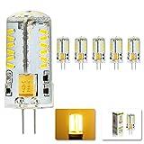 MUMENG 5X G4 LED Stiftsockel 4Watt Birne AC/DC12V 57 SMD 3014 Sparlampe warmweiß