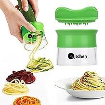 Premium Cortador en espiral de qitchen I perfecto para espaguetis I de fruta y verdura spülma Carril fijo & sin BPA