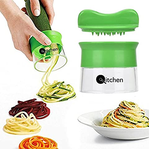 Premium by Qitchen I Perfect Spiral Cutter for Fruit and Vegetable Spaghetti I Dishwasher-Safe & BPA