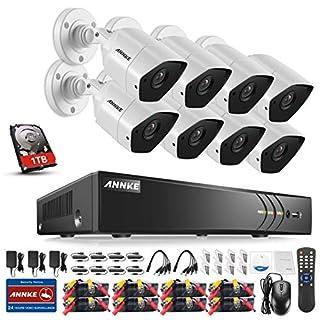 ANNKE Überwachungskamera Set, 8CH 3.0MP 5 in 1 HD DVR Recorder + 8 * 3MP Bullet Überwachungskameras, Bewegungserkennung, Smart Search/Playback (1TB HDD)