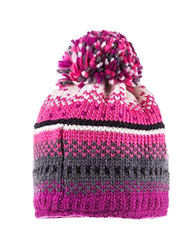 maximo 53574-222000, Bonnet Fille Multicolore - Mehrfarbig (brombeere/azalee 3260)