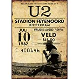 HALEY GAINES U2 Stadion Feyenoord Targa in Metallo Decorazione Parete Cartello Vintage Appendere Poster retrò Muro Placca per Bar Cucine Bagni Garage Hotel Giardino 20×30cm