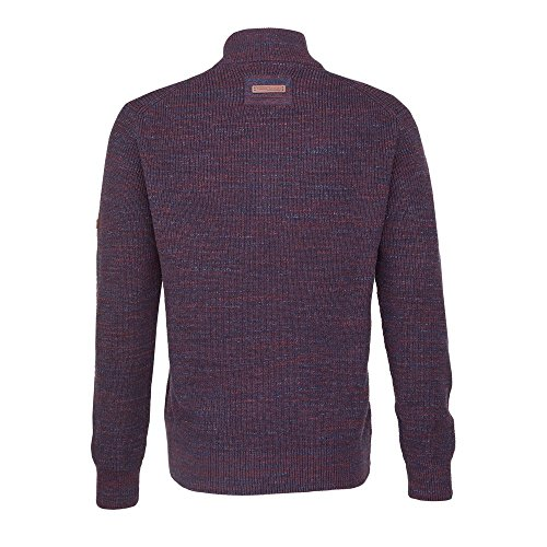 camel active Herren Stand-Up-Pullover Mou Rot (Bordeaux 47)