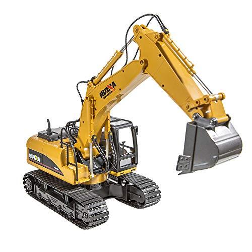 RC Kettenfahrzeug kaufen Kettenfahrzeug Bild 1: Hunpta@ Fernbedienung Auto 1:14 rc LKW 15 Kanal voll funktionale Fernbedienung Bagger Bau Traktor Spielzeug Geschenk (A)*