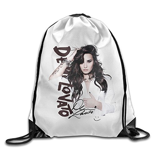 SAXON13 Unisex Geek Demi Singer Lovato Poster Drawstring bag(Zaini)