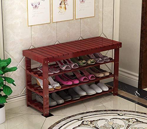 Shop Schuhe Schuhregal Naturholz Einfacher Schuh Stiefelregal Aufbewahrungsbox Organizer Halter Mehrschichtig ange Der Schuhhocker Multifunktionsablage Regalregal (Farbe: A, Größe: 60 * 29 * 54cm)