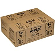 Whiskas 1+ Wet Cat Food for Adult cats Mixed Selection in Gravy, 84 Pouches (84 x 100 g)