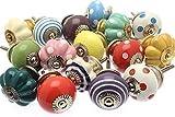 Türknauf-Set aus Keramik, verschiedene Designs und helle Farben, 16 Stück, GEE-16