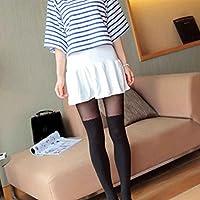 Calcetines de mujer sexy Terciopelo sobre rodillas Medias panty medias de media entrepierna negro Bobury