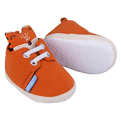 Galeja Tutu by Jungen Babyschuhe Orange Gr. XS 4-6 Monate Sommerschuhe Krabbelschuhe mit ABS Sohle