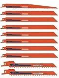 10 Neue Bahco Belzer Recipro Sägeblätter Set 150 mm