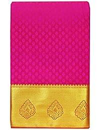 Saravanabava Silks Kanchipuram Art Pattu Plain Empossed Rich Pallu (S1- SRBS0321)
