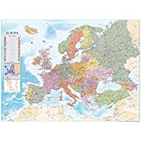 Close Up Europe Map XXXL Poster Flags (135cm x 100cm)