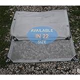 klare Poly Tarp wasserdicht Doppelschicht, schwere klare Plane mit Ösen, Multi Purpose Outdoor Plane Cover für Boot, Camping, Zelt, Regenschutz (größe : 1 x 2m)