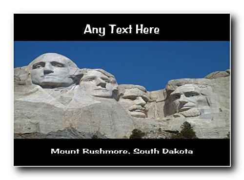 Monte Rushmore, South Dakota personalizzato Jumbo Magnete