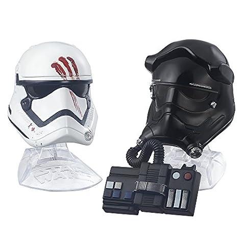 Star Wars Titanium Serie Helme Set Finn und TIE Fighter Pilot mit Aufsteller