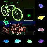 begorey Leuchtfarbe Leuchtpulver Neon Farben Nachleuchtendes Farbpulver Selbstleuchtende Wandfarbe Nachleuchtfarbe Selbstleuchtende Wandfarbe (10 g)