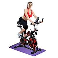 OneTwoFit Spinning Bike Indoor Studio Cycles Training Bike Fitness Cycling with Adjustable Handlebars & Seat and LED Display for Gym Use or Home Cardio Exercise OT018R
