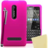 Accessory Master 5055716365399 Silikon Gel Tasche mit Displayschutzfolie und Stylus für Nokia Asha 210 rosa preiswert