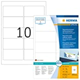 Herma 10307 Ablösbare Adressetiketten (96 x 50,8 mm) weiß, 1.000 Adressaufkleber, 100 Blatt A4 Papier matt, bedruckbar, selbstklebend