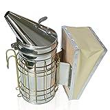 Aspectek Beehive Smoker Beekeeping Bee Repellent Stainless Steel with Heat Shield Protection 11 x 8.5 inch
