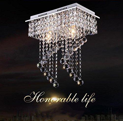 *Lampada a sospensione moderna Lampadari a cristallo classici del lampadario a bracci di cristallo dell'acciaio inossidabile uno/due lampadine principali della lampadina E14 Lampadari a led luci di
