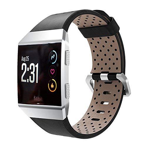Correa de repuesto para reloj Fitbit Ionic, de VICARA, de piel suave, ajustable