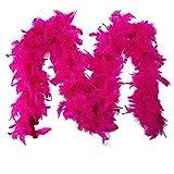 CANDLLY Schal Damen, Mode Damen Qualität Weiße Federboa Flapper Hen Night Burleske Dance Party Show Kostüm(Hot Pink,One Size