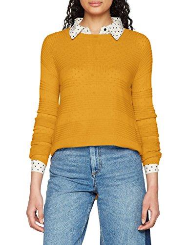 ONLY NOS Damen Onlcaviar L/S Pullover Knt Noos, Gelb (Golden Yellow), 36 (Herstellergröße: S)